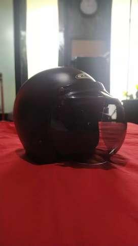 Helm retro Zeus Z385 + Visor Bogo ORIGINAL ukuran XL