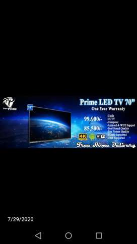 "Prime led tv 70"" on hold sell rate"