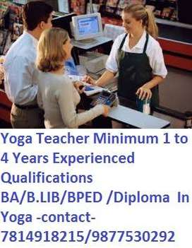 Sr.School Required Front Desk Executive Librarian Yoga Teacher Minimum