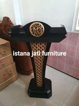 Mimbar Masjid Material Jati ( IJF istana jati furniture ) Ready