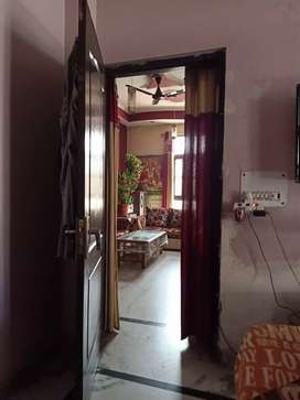 2 bhk flat L shape with 2 balconies on road flat