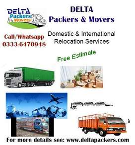 Delta Home Shifting packers/movers, Logistics/car cargo services