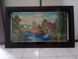 Lukisan sulaman dengan Bingkai