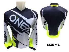Telah Ready..! Baju Sepeda Jersey - Berbahan Hijet - Ukuran L & XL