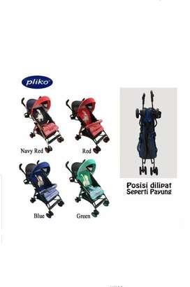 Jual stroller pliko murah kondisi baru