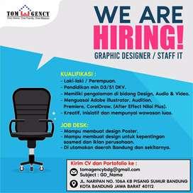 Lowongan kerja Graphic Design / Staff IT Bandung