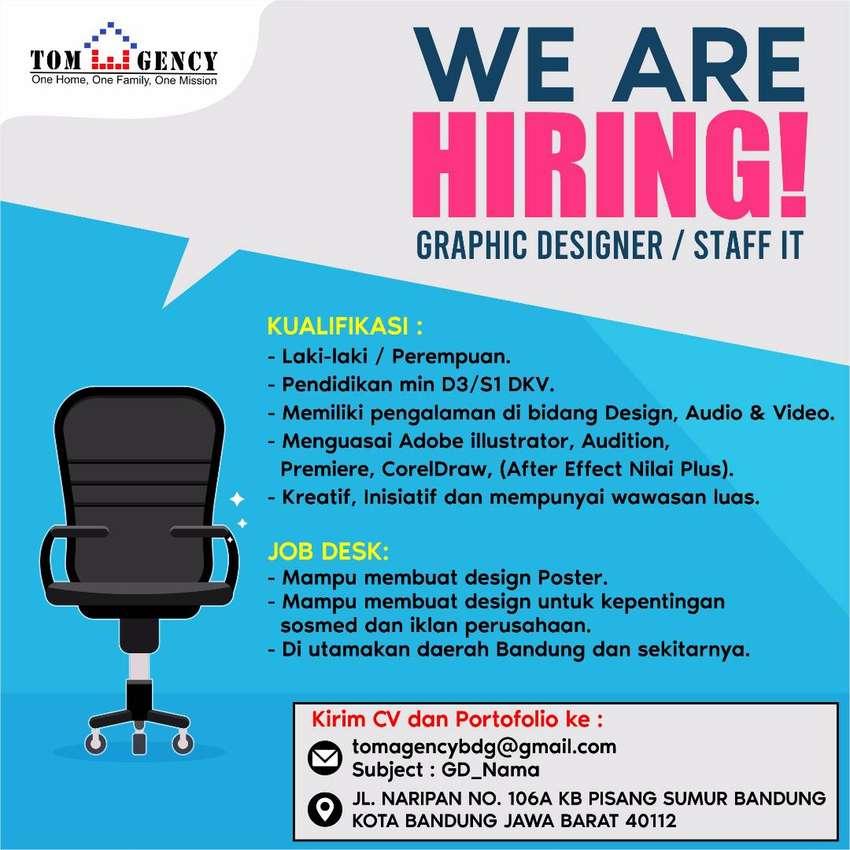 Lowongan kerja Graphic Design / Staff IT Bandung 0