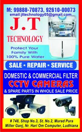 J t technology ro system and cctv camera