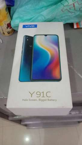 vivo y91c with box and orignal charger 10/10.