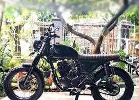 Scorpio Modif Scrambler Triump boneville Mulus Lancar Jaya