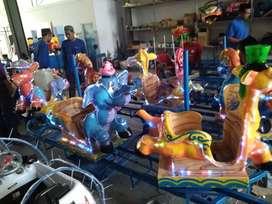 AGM mainan kuda genjot usaha persewaan fiber animal odong