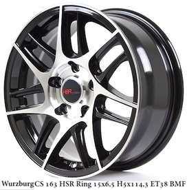 velg mobil elegan ring 15x7 h5x114,3 blackpolish