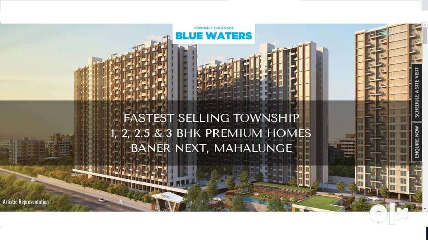 At 53.70 Lakh 2 Bhk flat in baner mahalunge,with All premium Amenities 0