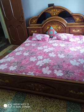Double bed , dressing table with corner table