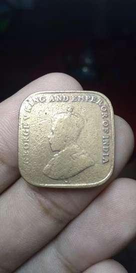 Uang koin kuno th 1920 india