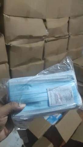Masker biru embos careindo isi 50 pcs perbox