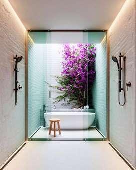 Bathtub Elegant Klasik Nuansa Bali Terazzo