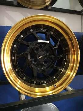 Velg Mobil R16 Lebar 8-9 Black Gold