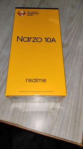 Narzo 10a 4/64 Gb white colour seal packed phone with original bill.
