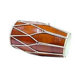 Brown Wooden Dholak