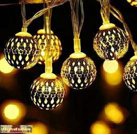 16 LED Hanging Lantern String Ball Lights