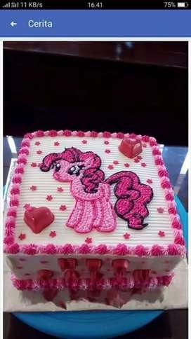 Kue ultah boleh request sesuka hati, kue dijamin enak