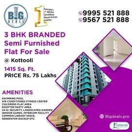 3 BHK Branded Flat for Sale at Koottuli, Calicut.