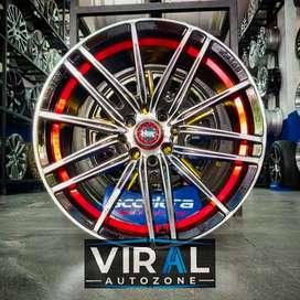 Velg Racing R17 HSR Candy Lebar 7,5 Untuk Mobil Jazz Vios Yaris Mazda2