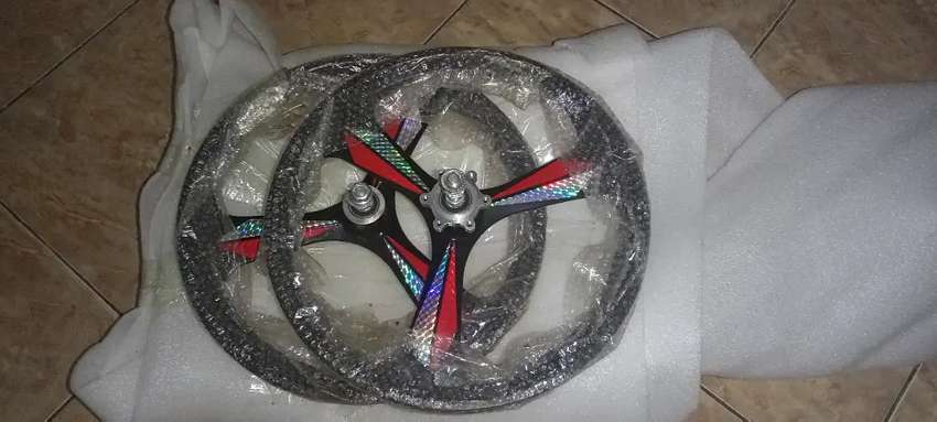 Sepeda lipat 16 Wheelset BARU 3spoke alloy bearing racing 0