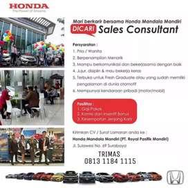 Lowongan Marketing Honda