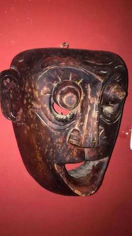 Mask for home office decoration ...wooden