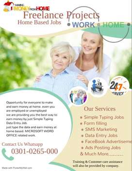 Simple job available on home based part time work job for all unemploy