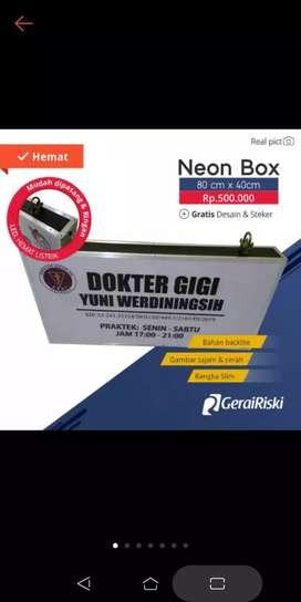 Neonbox akrilik/backlite