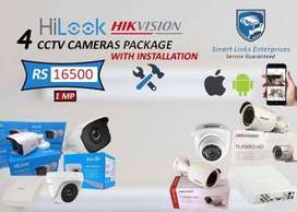 CCTV Hikvision 1 year insurance with free installation and wire
