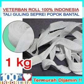 Tali Guling/Tali Bantal/Tali Jaket 1Kg Putih / Hitam