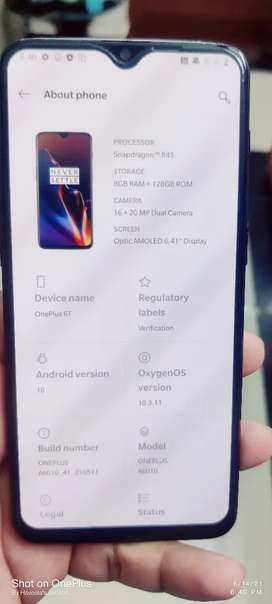 OnePlus6T Pls Feel Free To Contact