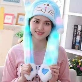 Topi Bunny anak Led gerak