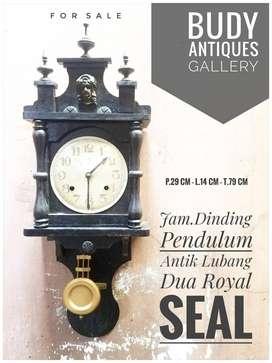 Jam dinding Pendulum Antik Lubang Dua Royal Seal
