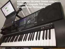 Keyboard Techno TERBARU Upgrade Series  T9900iUSB/FD Fullset Lengkap