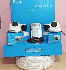 Paket Kamera Cctv 4ch Spc 2kamera 2mp Full Hd
