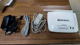 Digisol ASDL2+ broadband router with 3g/4g usb modem port, 150 mbps