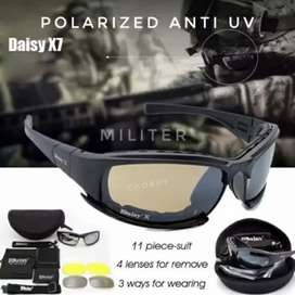 Kacamata Sepeda Tactical Polarized Merk Daisy X7