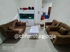 sofa tamu 211 minimalis model kancing, dan meja