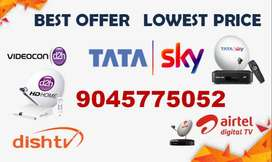 BEST OFFER ON DTH TATASKY, AIRTEL, VIDEOCON D2H, DISHTV, SUN DIRECT