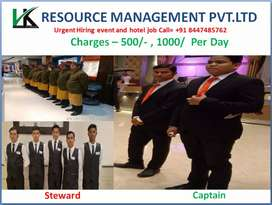 Urgent requirement for waiters for events management