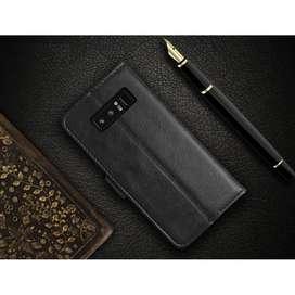 Flip Wallet Kulit Leather Cover Slot Kartu Samsung Galaxy Note 8 Note8