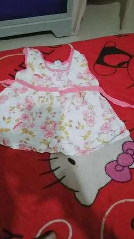 Baby girl printed cotton dress