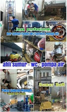 Sumur Bor Gali Kuras Sumur Sedot Wc Saluran Mampet Service Pompa Air