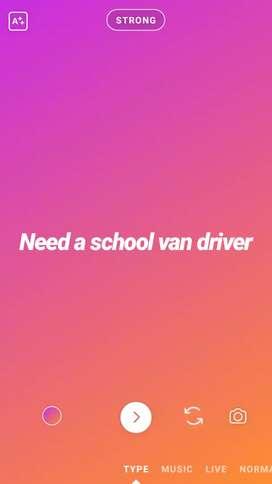 Need a school van driver