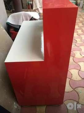 shop wooden counter